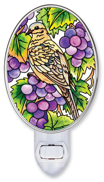 Grapevine Dove Nightlight with Rotating Plug