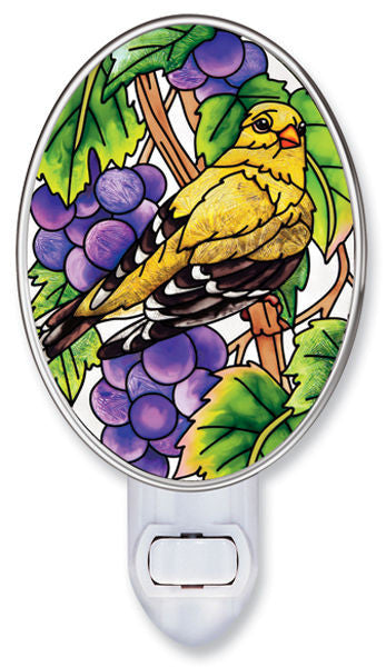 Grapevine Goldfinch Nightlight with Rotating Plug