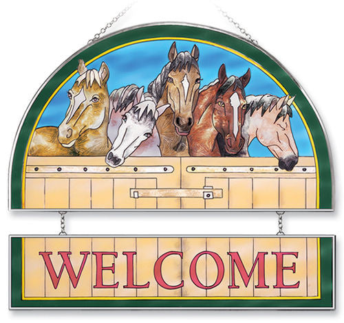 Horses Welcome Panel