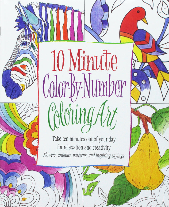 10 Minute Color by Number Coloring Book