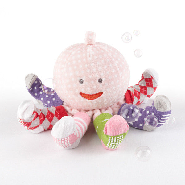 Mrs Sock T Pus Plush Octopus with 4 pair of Socks (Pink)