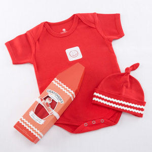 Crayonsies 2 piece cloud Red Baby Gift Set