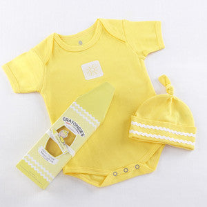 Crayonsies 2 piece cloud Yellow Baby Gift Set