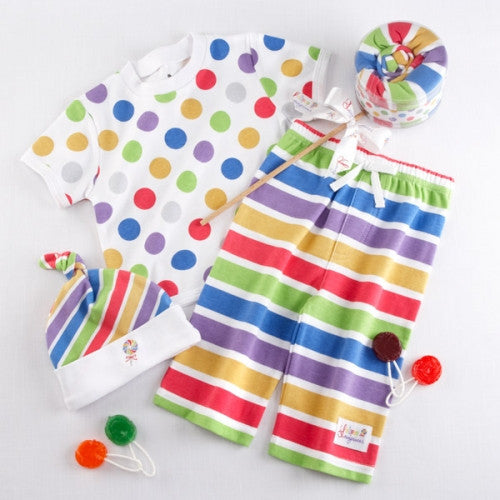 Lollipop Loungewear Gift Set Includes: Hat T-Shirt Lounge Pants