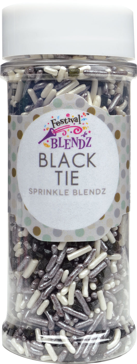 Black Tie Sprinkle Blend Cake Decoration