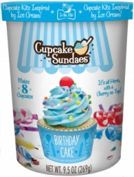Birthday Cake Cupcake Sundaes
