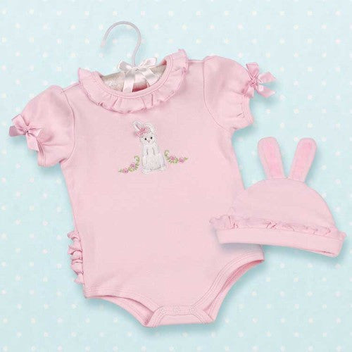 Cottontail Onesie & Hat 0-6 Months