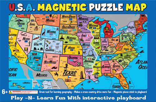 USA Magnetic Puzzle Map