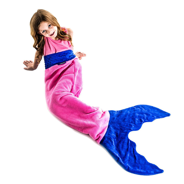 Kid Size Mermaid Blankie Tail Pink