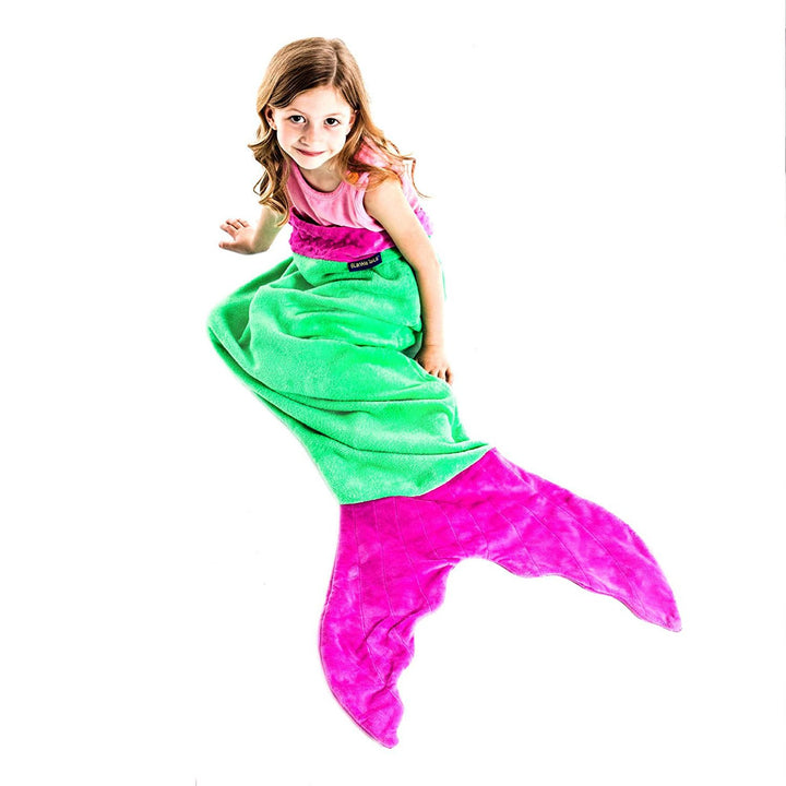 Kid Size Mermaid Blankie Tail Green