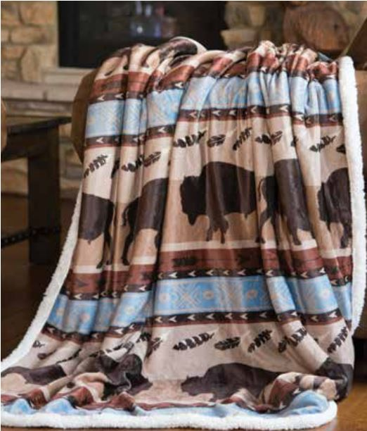 Carstens Wrangler Buffalo Blanket Throw