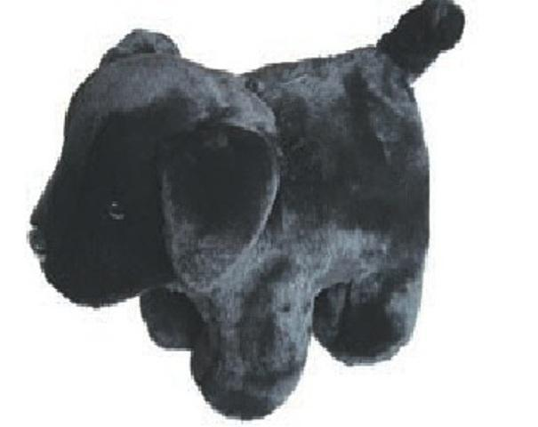 Carstens Black Plush Lab Dog Kids Coin Bank