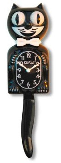 Classic Black Cat Kit Clock