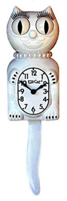 White Lady Kit Cat Clock