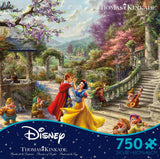 750 Piece Thomas Kinkade Disney Dreams Puzzle-Snow White Sunlight