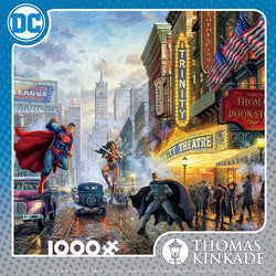 1000pc Thomas Kincade Justice League Puzzle-The Trinity Theatre
