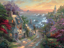 1000 pc Thomas Kincade Painter of Light-The Village Lighthouse