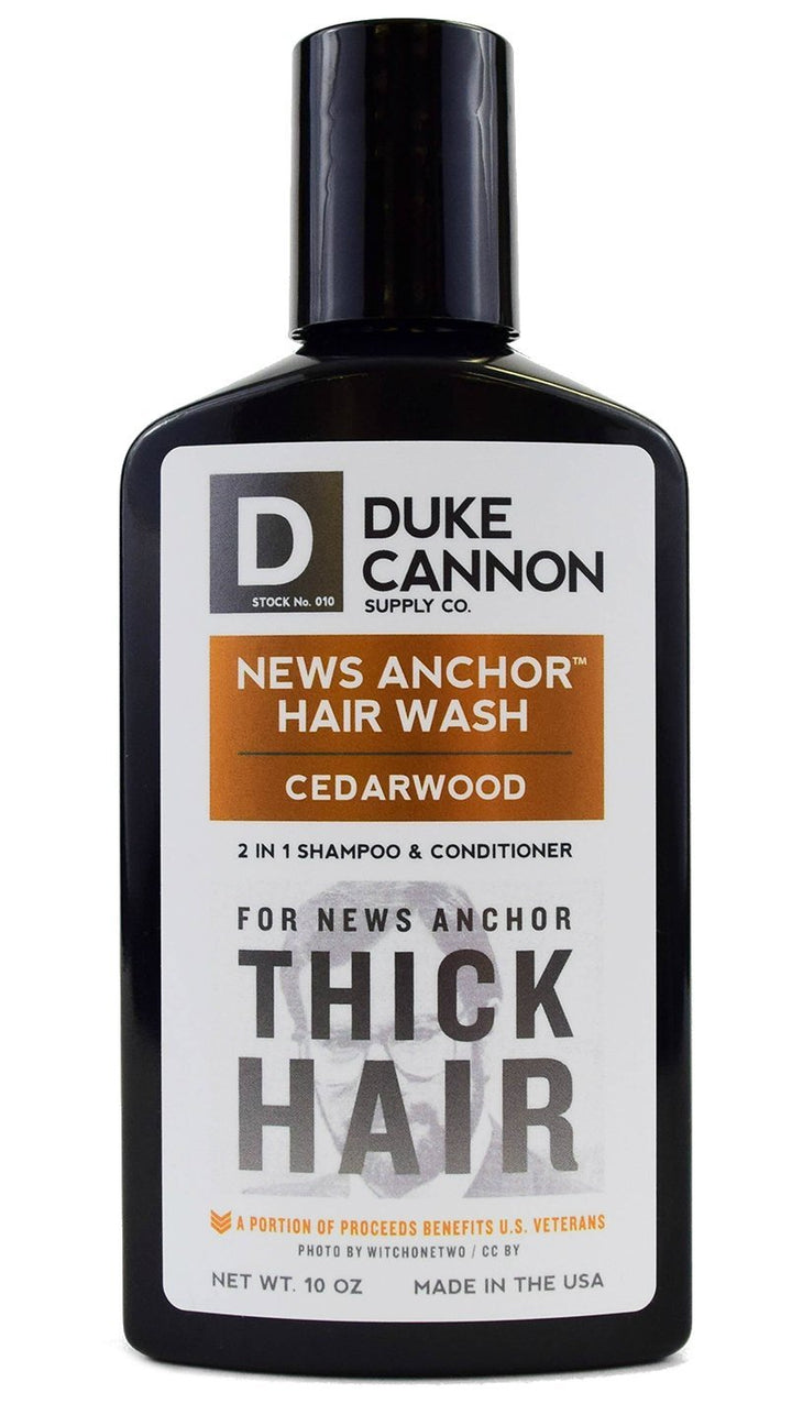 Duke Cannon News Anchor Hair Wash for Thick Hair, 10 oz