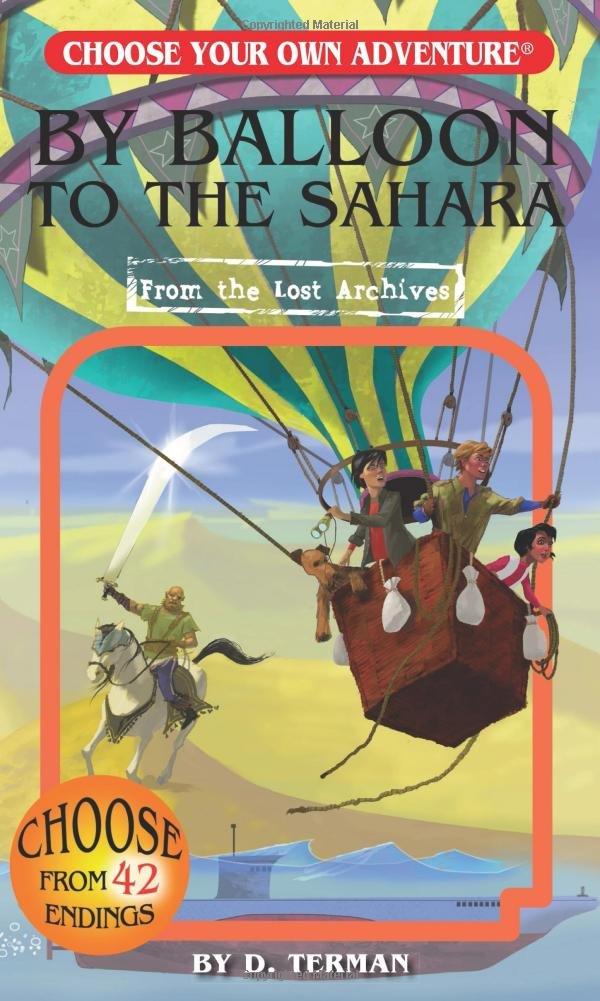 Choose Your Own Adventure Book-By Balloon to the Sahara #186