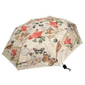 Heather Meyers Bird/Flower/Butterfly Collapsible Umbrella
