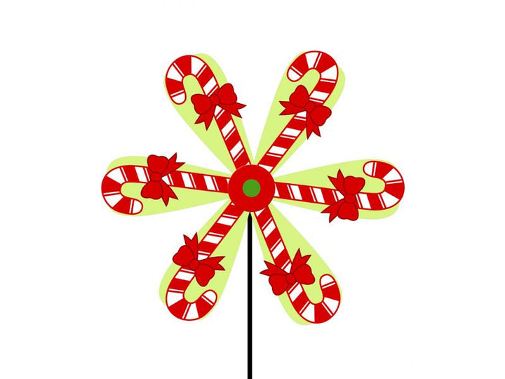Real Wood Candy Cane Spinwheel