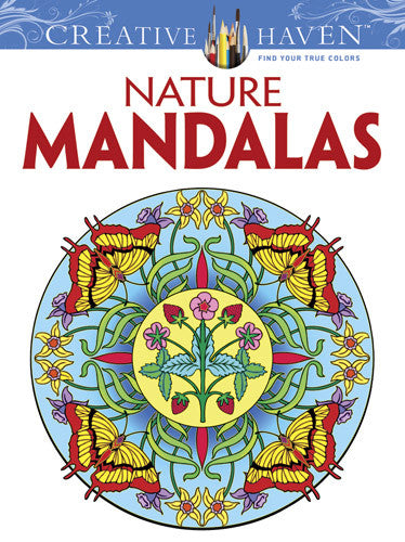 Creative Haven Nature Mandalas Coloring Book by Marty Noble