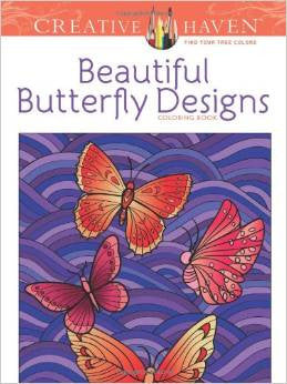 Creative Haven Beautiful Butterfly Designs Coloring Book by Jessica Mazurkiewicz
