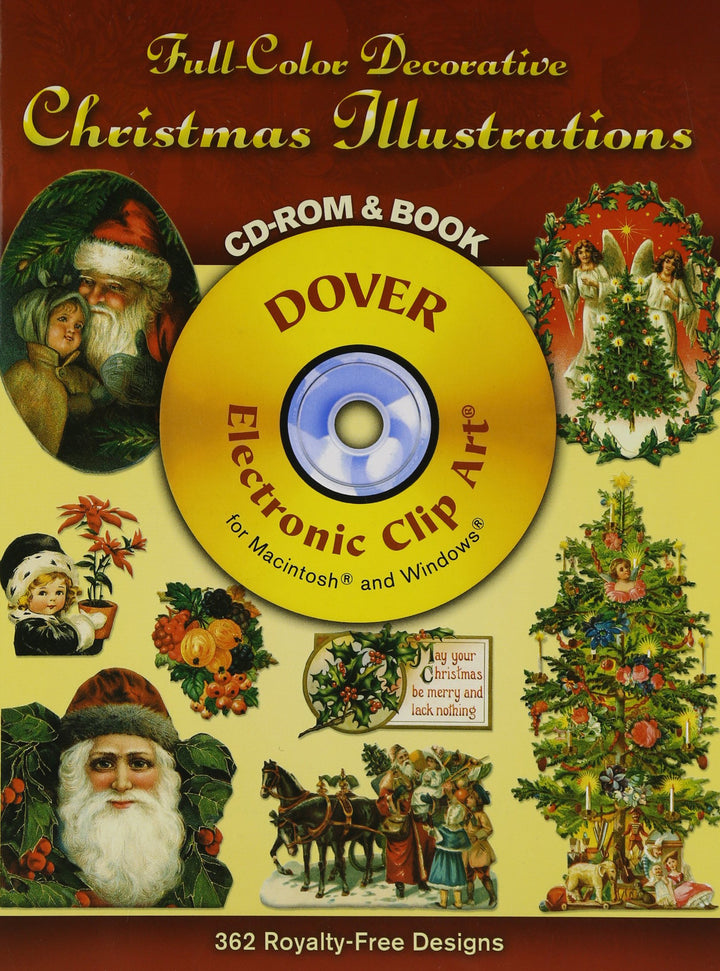 Full-Color Decorative Christmas Illustrations CD-ROM and Book (Dover Electronic Clip Art)