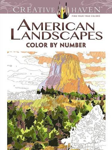 Creative Haven American Landscapes Color by Number