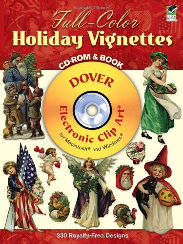 Full-Color Holiday Vignettes CD-ROM and Book (Dover Electronic Clip Art) Paperback – January 11, 2002