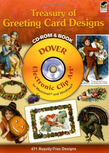 Treasury of Greeting Card Designs CD-ROM and Book (Dover Electronic Clip Art) Paperback – July 28, 2006