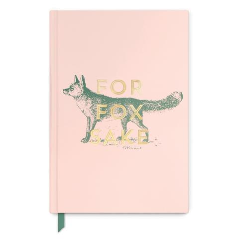 Vintage Sass Fox for Fox Sake Soft Touch Hardcover Bound Book