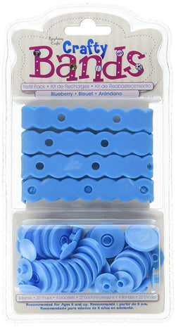 Crafty Bands Refill: 4 Crafty Bands/20 Crafty Snaps Settings-Blueberry
