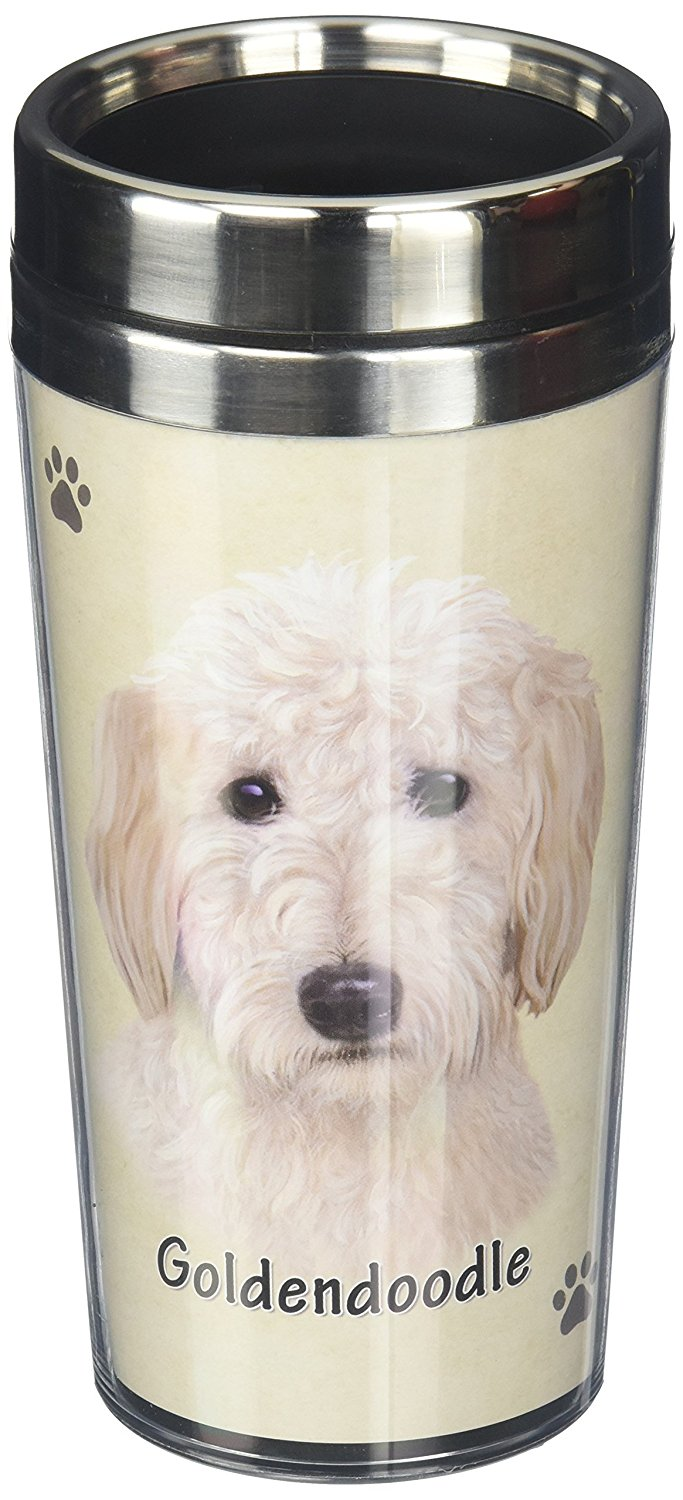 Goldendoodle Thermos Travel Tumbler Mug