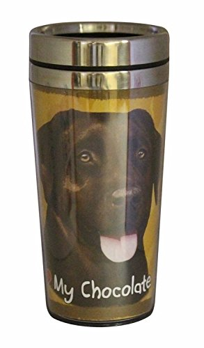 Chocolate Labrador Thermos Travel Tumbler Mug