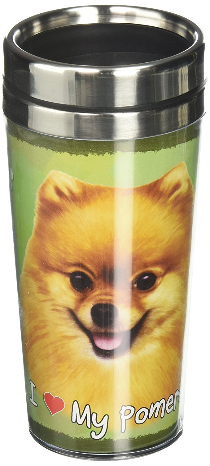 Pomeranian Thermos Travel Tumbler Mug