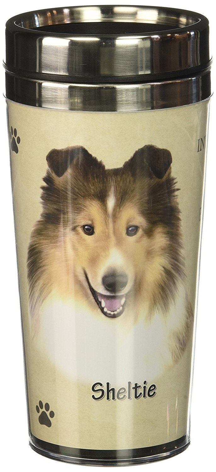 Sheltie Thermos Travel Tumbler Mug