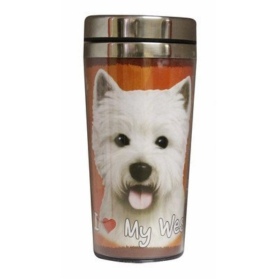 Bichon Frise Thermos Travel Tumbler Mug