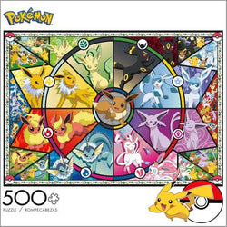Eevee's Stained Glass Pokemon 500pc Puzzle