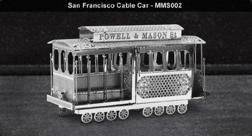 Metal Marvels San Francisco Cable Car 3D Laser Cut Models