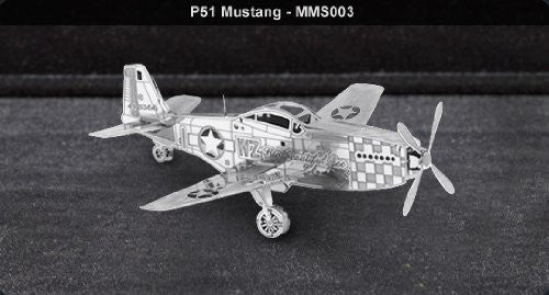 Metal Marvels - Mustang P-51 3D Laser Cut Model