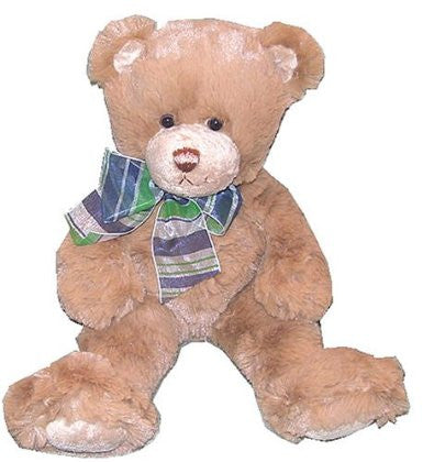 Supersoft Brown Teddy Bear With Plaid Bow