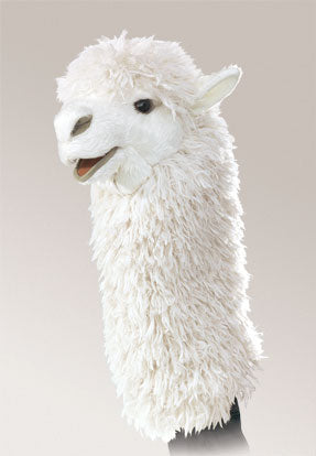 Folkmanis Mini Alpaca Stage Puppet