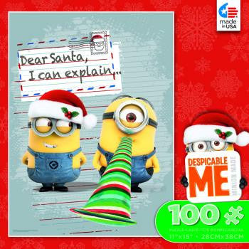 Despicable Me 2 100 Piece Puzzle-Holiday Dear Santa, I can explain