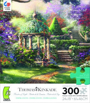 Thomas Kinkade Inspirations 300 piece Puzzle- Gazebo of Prayer