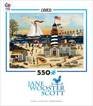 Jane Wooster Scott 550 Piece Puzzle-Beacon On The Beach