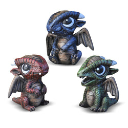 Fiddlehead Fairy Garden Miniatures- Baby Dragons Set of 3