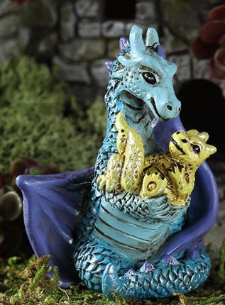 Georgetown Fiddlehead Fairy Garden Mom and Baby Dragon