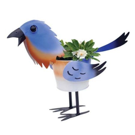 Mini Blue Bird Planter 4