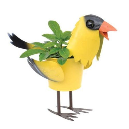 Mini Gold Finch Bird Planter 4